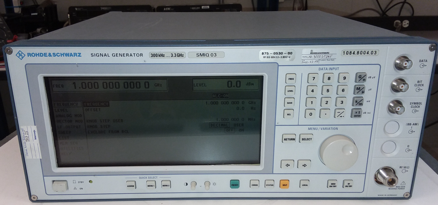 Rohde & Schwarz SMIQ03 for sale